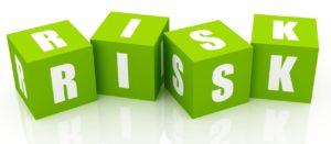 Risk Blocks isolated on white