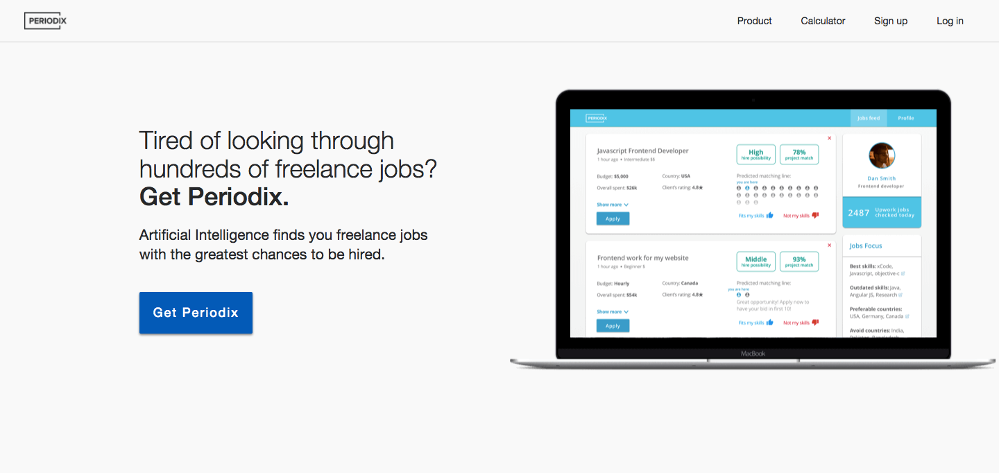 Periodix: intelligent job matching for freelancers